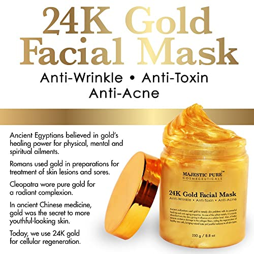 Majestic Pure Gold Facial Mask, Ancient Gold Face Mask Formula Reduces the Appearances of Wrinkles and Fine Lines,...