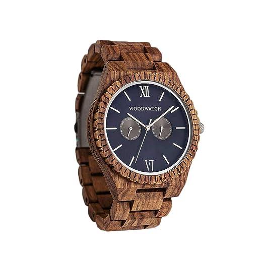 Madera Reloj Hombre | Ocean Blue | Relojes de Madera Natural, Las Oficial Wood Watch Relojes de Madera: Amazon.es: Relojes