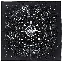 G-wukeer Mantel Tarot Special con 12 imágenes de Estrellas, astrología, Tarot Divination Card, Mantel para entusiastas…