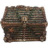 DRAGON skull skeleton Key keeper secret stash hider TRINKET box throne Statue