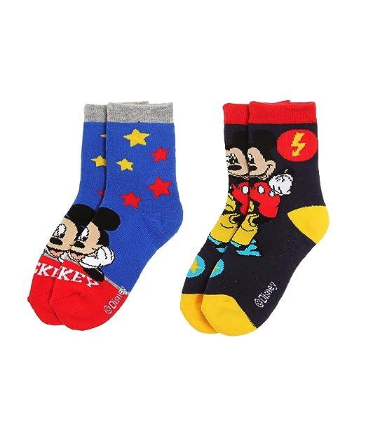 Disney Mickey Chicos Calcetines (lote de 2) - Azul - 23-26: Amazon.es: Ropa y accesorios