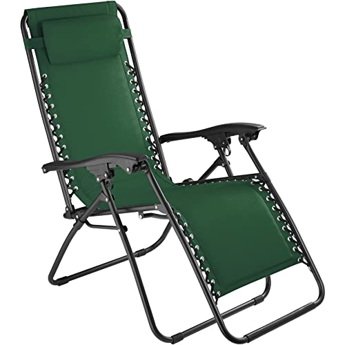 TecTake 800583 Chaise Longue Toile Tendue Pliable Avec Rembourrage De Tte Amovible Charge