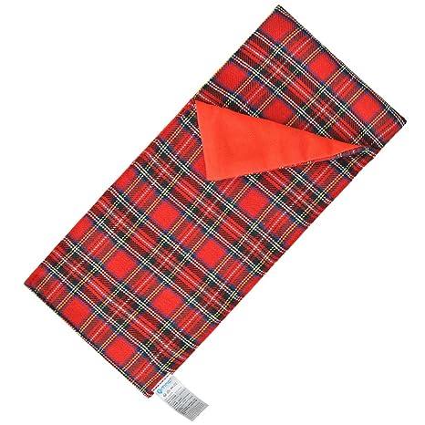 E-TING Saco de Dormir Navidad Accesorio para la Muñeca Elf (Tela Escocesa roja