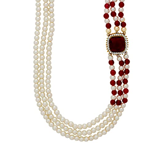 Amazon voylla side pendant pearl necklace from pearl galleria voylla side pendant pearl necklace from pearl galleria mozeypictures Choice Image