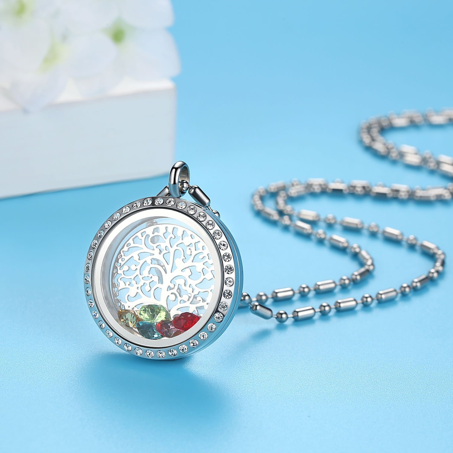 heart w floating memory charms category pendants necklaces necklace chain product locket silver