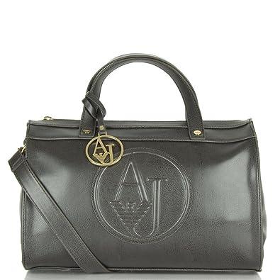 8c9ab8ecff4b Armani Jeans Bake Black Vintage Eco Leather Barrel Bag Black Leather ...