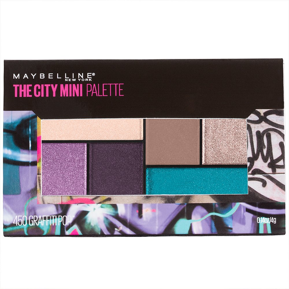 Maybelline New York Makeup The City Mini Eyeshadow Palette, Graffiti Pop Eyeshadow, 0.14 oz