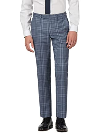 24f54bbc86ada HARRY BROWN Men s Blue Suit Trouser in 34R to 42R  Amazon.co.uk ...
