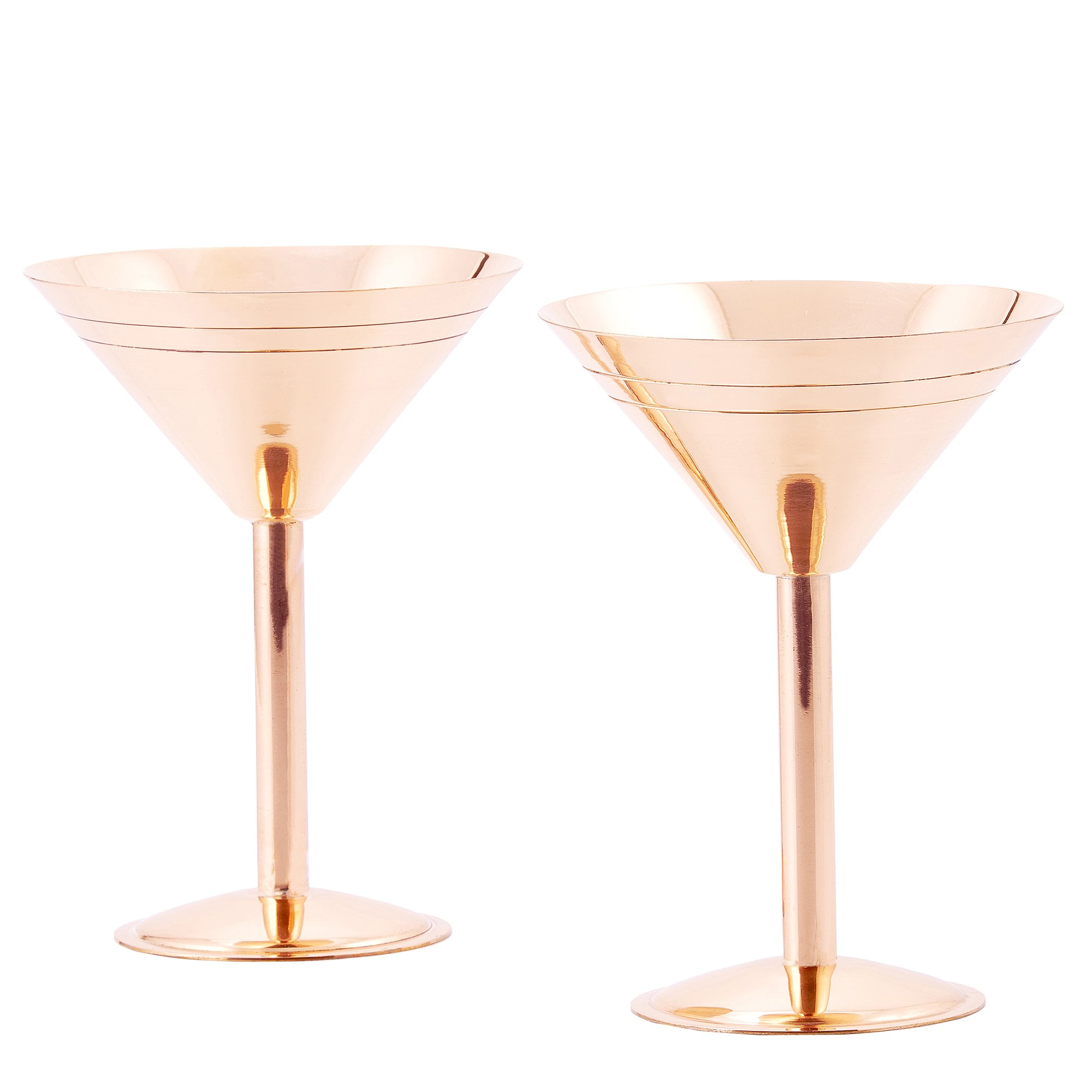 Old Dutch Solid Copper Martini Glasses, set of 2 by Old Dutch