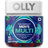 Olly Men's Multivitamin Gummy Vitamins A C D E B Zinc Adult Chewable Supplement Flavor 45 Day Supply, Red, Blackberry Blitz,