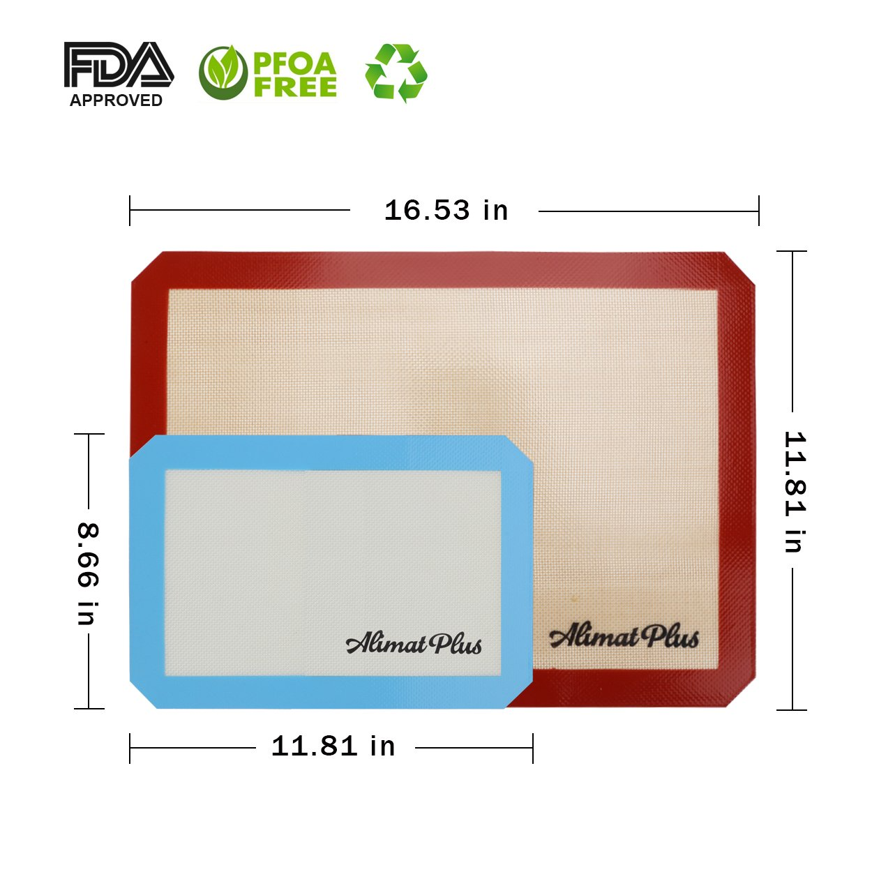 Alimat Plus Silicon Baking mat Cookie Sheet Non Stick Dishwasher Safe Reusable by Alimat Plus (Image #3)