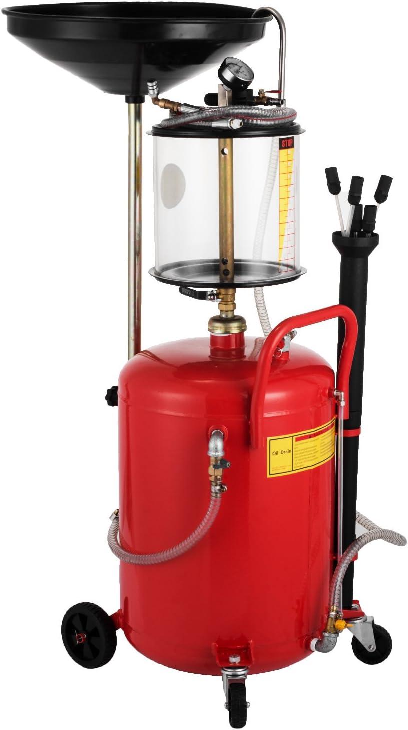 Mophorn 17 Galones / 64 L Extractor de Aceite Extractor de Garaje de Aceite Extractor de Fluido de Vacío Extractor de Tanque de Bomba