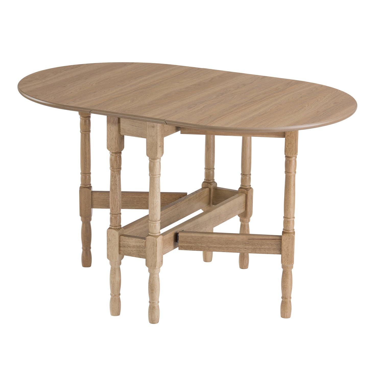 Mood Furniture HEATPROOF Oval Gateleg Drop Leaf Kitchen Dining Table