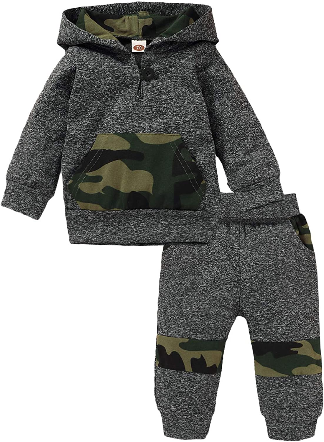 Infant Toddlers Hooded Sweatshirt Tops Trousers Xmas Tracksuit Outfits Winter