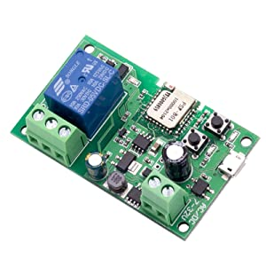 Onyehn SONOFF USB 5V 5V/12V DIY 1 Channel Jog Inching Self-Locking WiFi Wireless Smart Home Switch APP Remote Control Module for iOS/Android