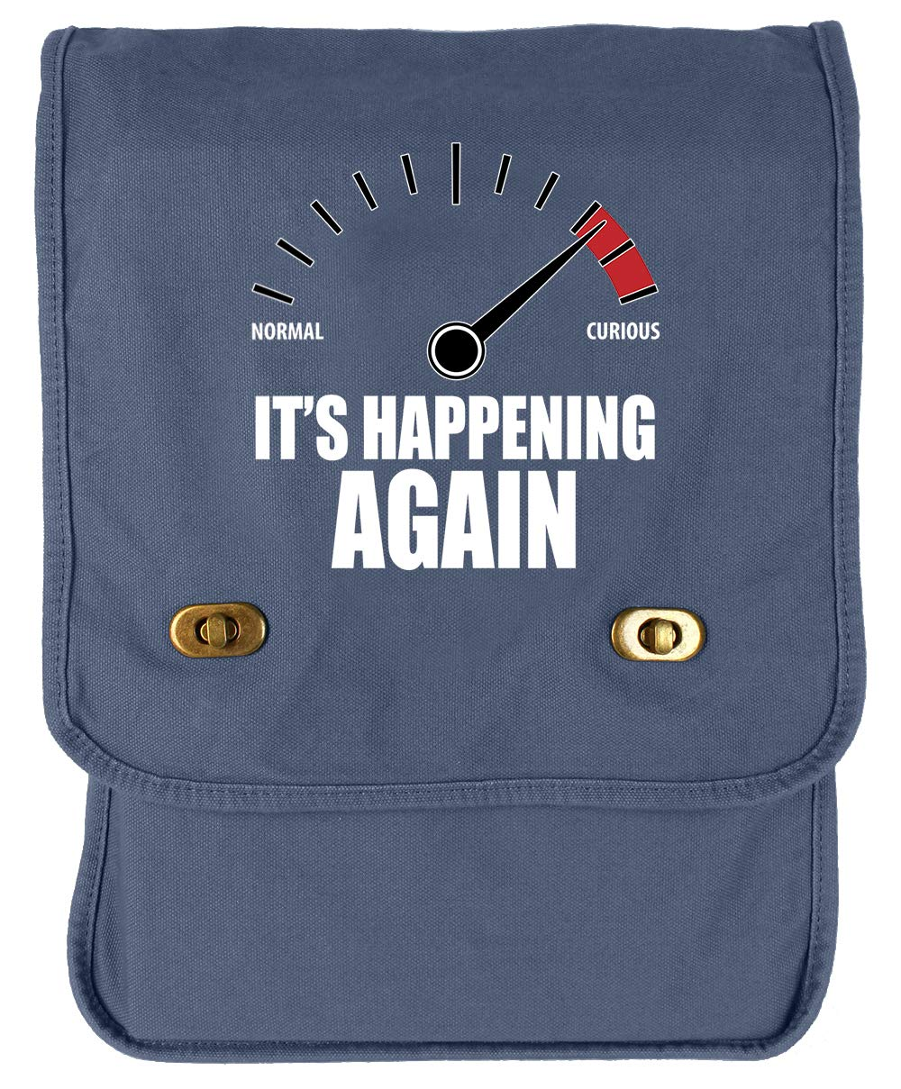 Its Happening Again Green Brushed Canvas Messenger Bag Tenacitee Curious