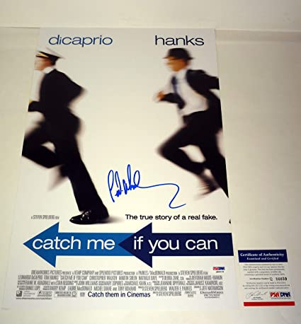 Frank Abagnale Signed Autograph Catch Me If You Can Movie Poster