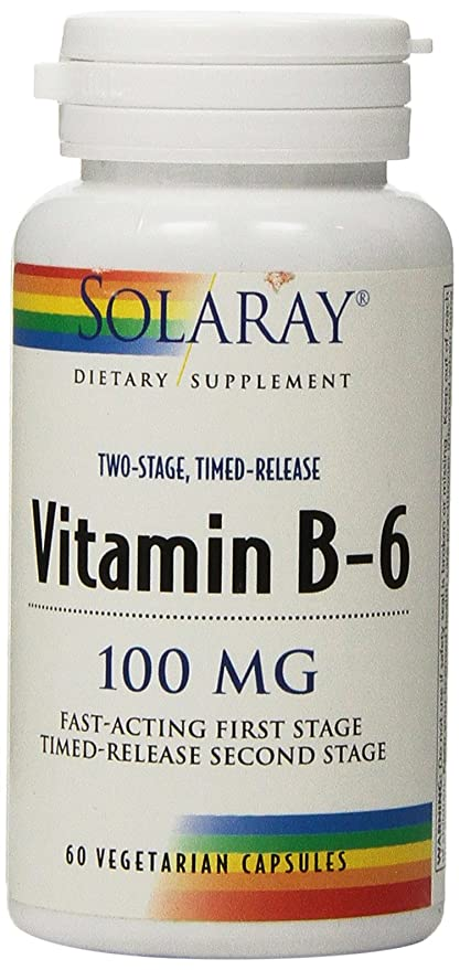 SOLARAY - VIT. B6 100MG. 60CAP. SOLARAY