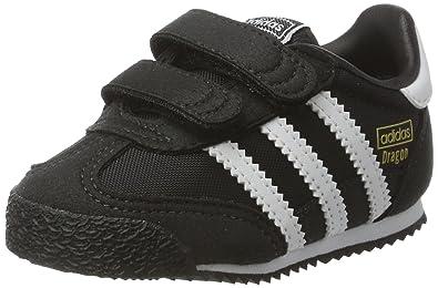 cheaper 1a1cb c5bce adidas Originals Boys Childrens Dragon OG CF I Casual Trainer Shoes -8.5K  Black