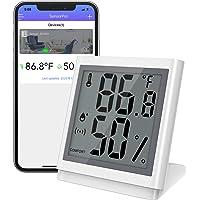 Brifit Trådlös termometer hygrometer, bluetooth temperaturfuktighet smart sensor med LCD-skärm, appvarning, digital…