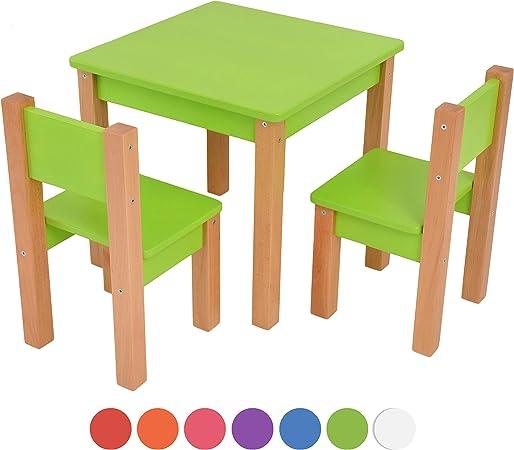 garçons Bois Enfants de Enfants en Enfants FillesVert chaises TablechaisesMeubles Groupe hêtre Bois Table sièges Enfants en MDF sièges zMpSqUV