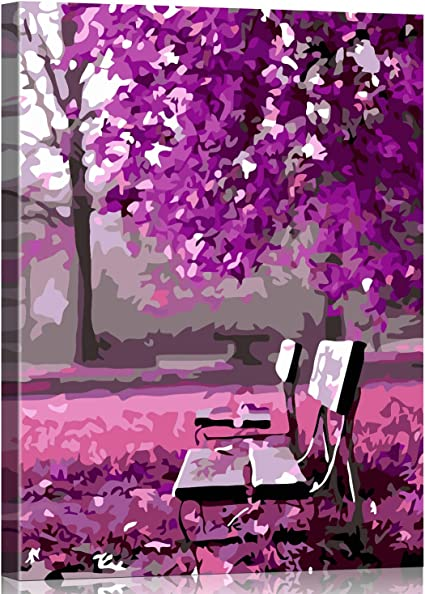 Drawing with Brushes Christmas Decor Decorations Gifts Flower on The Chair Frame DIY Oil Painting Paint by Number Kit for Kids Adults Beginner 16x20 inch
