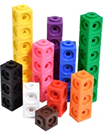 Edx Education Math Cubes - Set of 100 - Linking Cubes For Early Math - Connecting Manipulative For Preschoolers Aged 3...