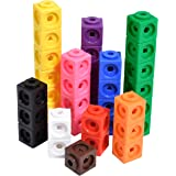 Edx Education Math Cubes - Set of 100 - Linking Cubes For Early Math - Connecting Manipulative For Preschoolers Aged 3+ and E