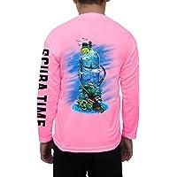 GAMEFISH USA Kid's UPF 50 Long Sleeve Microfiber Moisture Wicking Performance Fishing Shirt Scuba Diving Tank