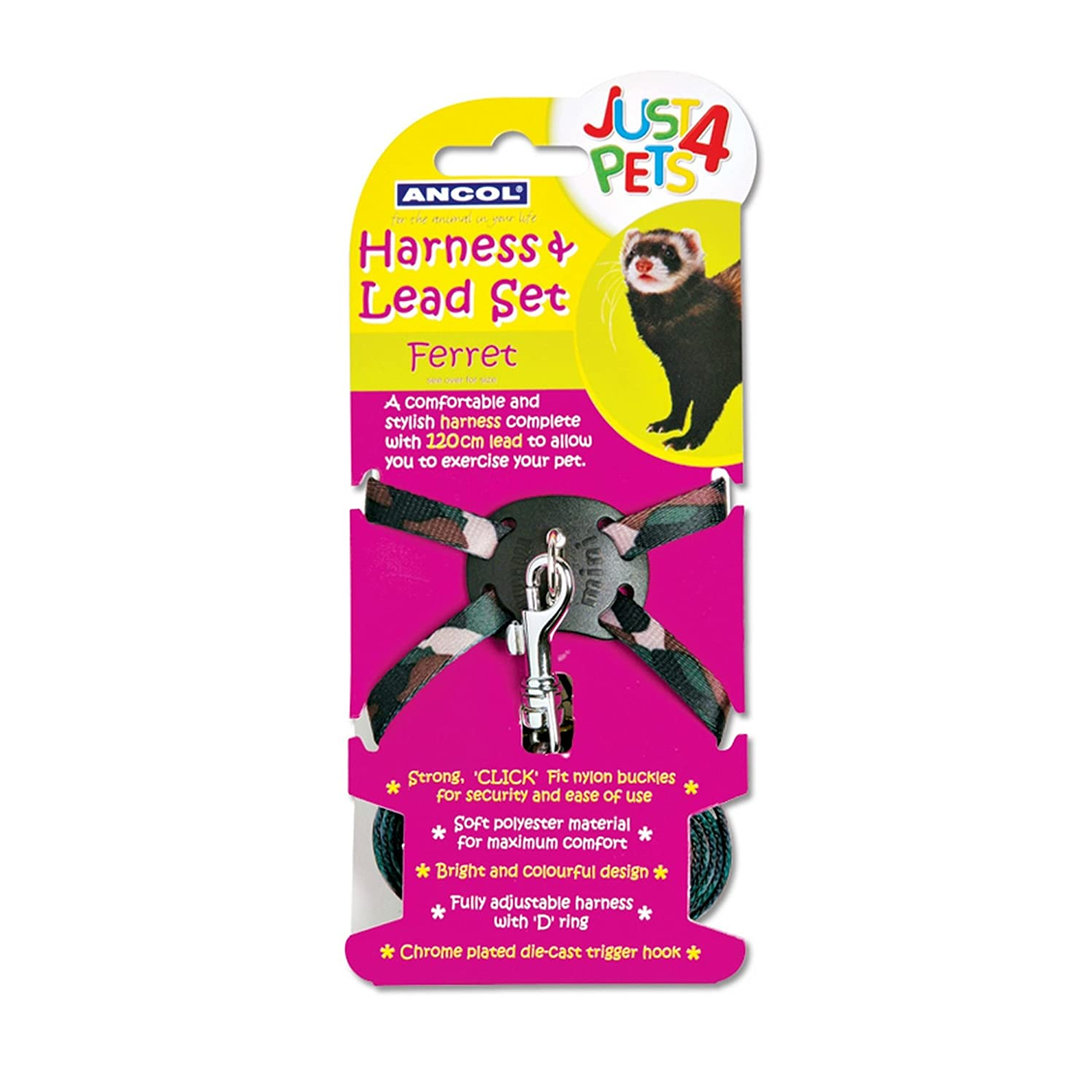 Ancol Pet Products Just 4 Pets Ferret Harness And Lead Set UTVP1056_1