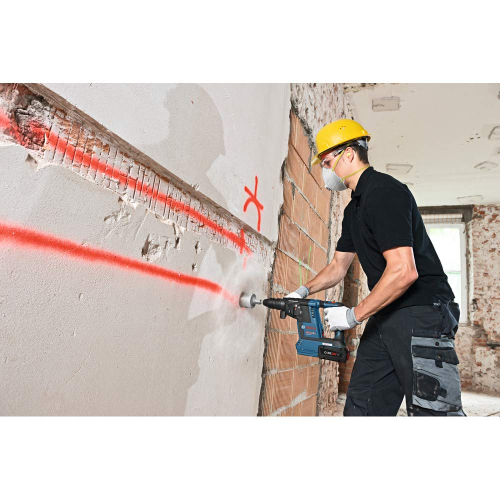 Bosch GBH18V-26K24-RT 6.3 Ah Cordless Lithium-Ion Brushless 1 in. SDS-Plus Bulldog Rotary Hammer Kit (Renewed) by Bosch (Image #5)