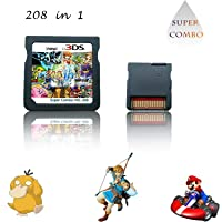 208 in 1 Game Cartridge, DS Game Pack Super Combo Compilation Compatible with DS/NDSL/NDSi/2DS/3DS(Includes XL/LL models)