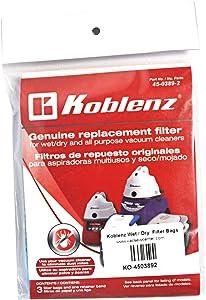 Koblenz Wet/Dry Vacuum Cleaner Filter Bags