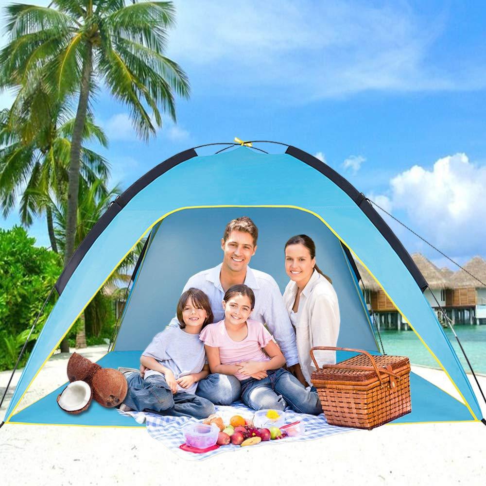 Sumerice Family Tente de Plage et Pare-Soleil UV Cabana Abri pour Camping, randonnée, pêche - Léger, Portable, Respirant et Coupe-Vent - Pliable