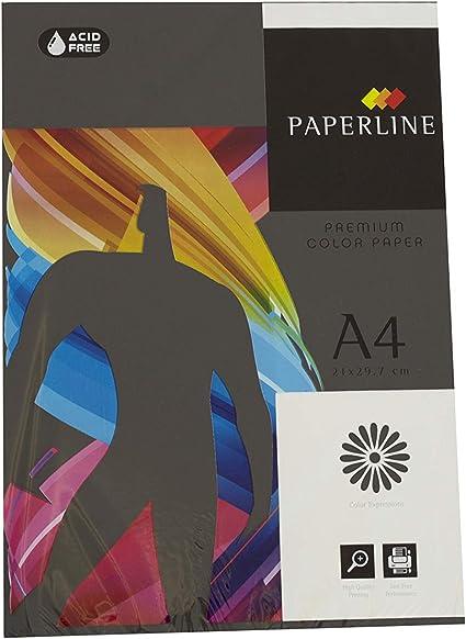 Pack 500 Hojas Color Negro Tamaño A4 80g: Amazon.es: Oficina y papelería