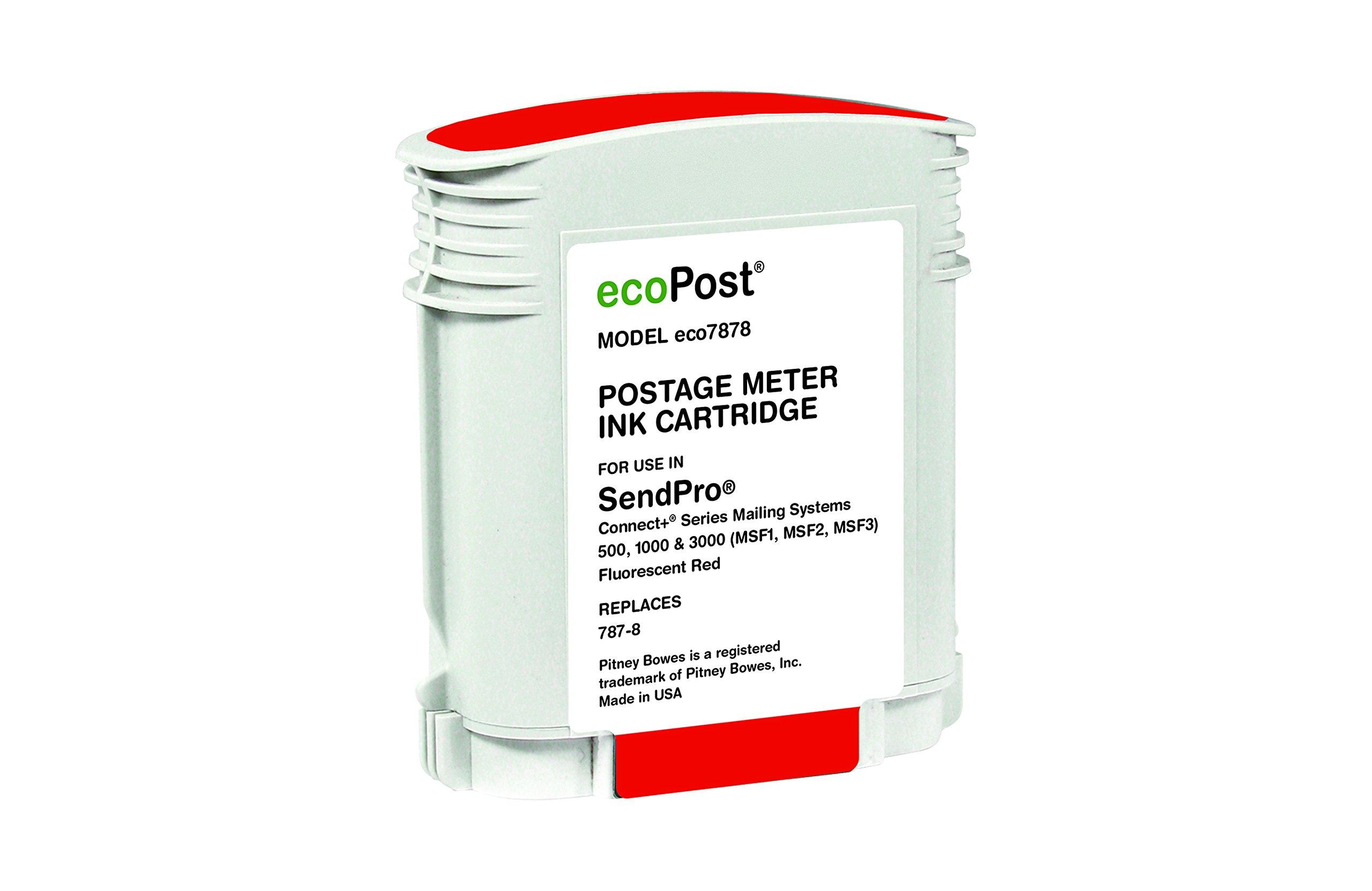 Ecopost 787-8 Postage Meter Ink Cartridge Red