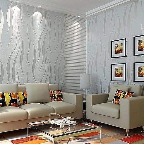 Auralum® 3D Beflockung Dreidimensionalen Tapete Vliestapete Tv