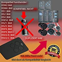 Garador hsm2/HSM4compatible emisor Transmisor de repuesto, 868.3MHz Fixed