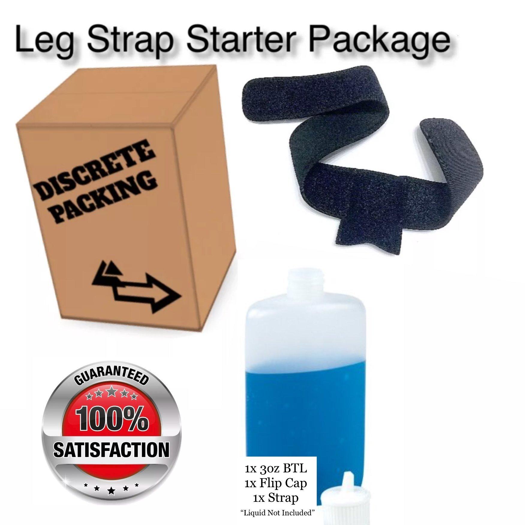 IVIBED Hidden Pocket Leg Strap Combo Pack 1pc-4pc Speak Easy Hiking Leg Belt 1st AID Camping Hiking (2pc Black Strap + Bottle)