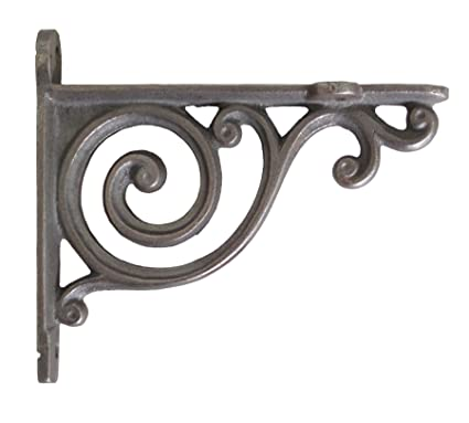 Smalle Kast Wit.Pair Of Small Cast Iron Shelf Brackets With Victorian Scroll Design
