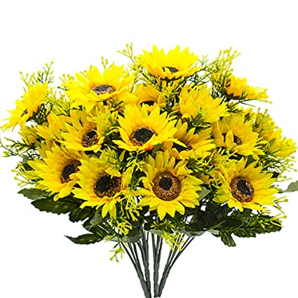Yisnuo Flores Artificiales Girasoles Artificiales Flores