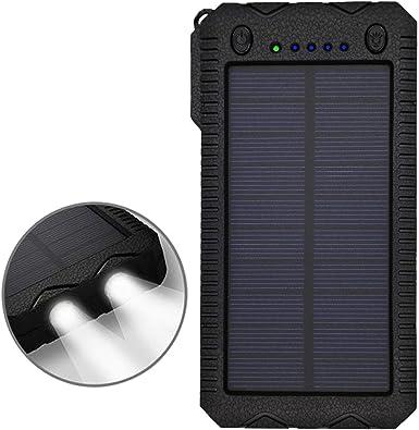 Tronoe - Funda de Carga portátil de 12000 mAh con Cargador Solar ...