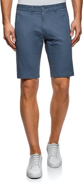 TALLA 44. oodji Ultra Hombre Pantalones Cortos de Algodón