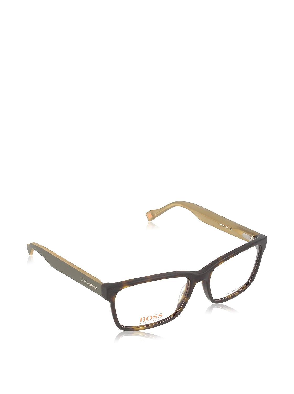 ed159df5f77 HUGO BOSS BOSS ORANGE Eyeglasses 0182 0K1m Havana Khaki Cream 53MM   Amazon.in  Clothing   Accessories