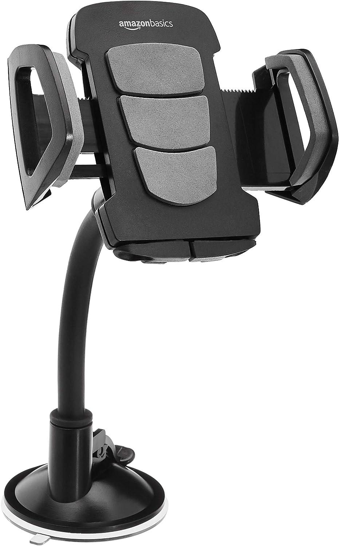 AmazonBasics Universal Smartphone Holder for Car Windshield