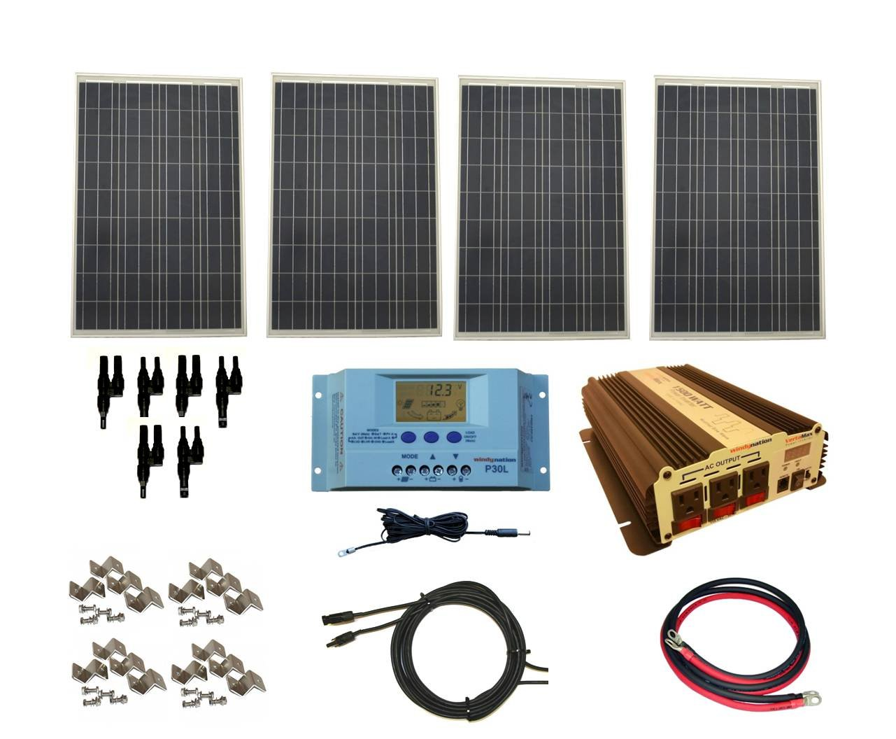 Best Solar Panel Kits WindyNation Complete 400 Watt