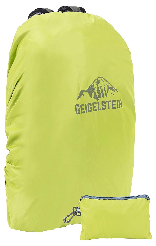 GEIGELSTEIN® - Funda Impermeable para Mochilas de 30 a 45 litros, con Logo Reflectante y Bolsillo: Amazon.es: Deportes y aire libre