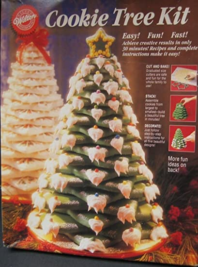 Amazon Com 1994 Wilton Cookie Tree Kit With Ten Star Cookie Cutters