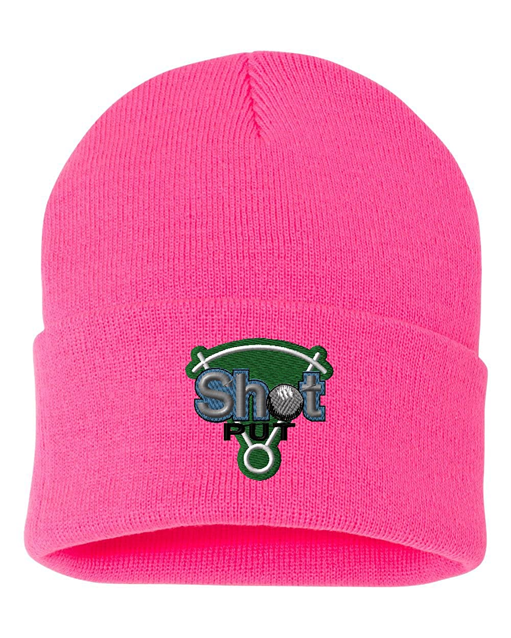 Shot Put/ Custom Personalized Embroidery Embroidered Beanie