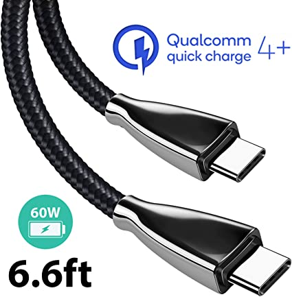 5Gbps Data Transfer UGREEN USB C Cable 4K@60Hz Video Output Thunderbolt 3 Compatible for Type-C devices-1m USB C to USB C Braided USB 3.1 Type C QC 3.0 Fast Charging Cord,60W 20V//3A Power Delivery
